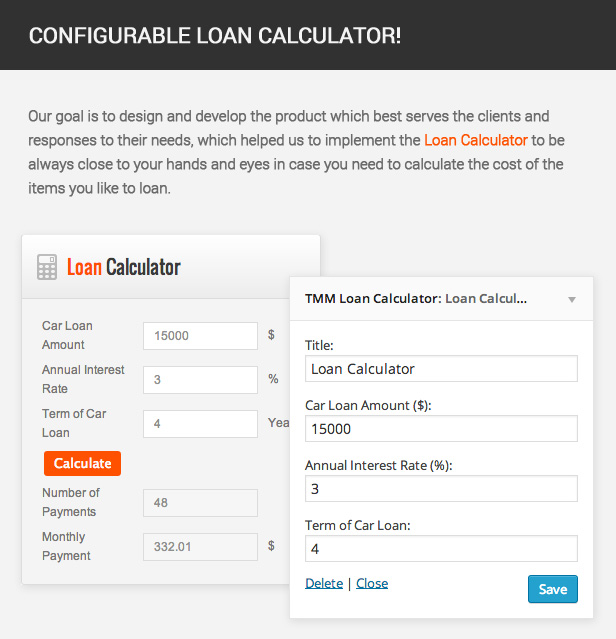 Our goal is to design and develop the product which best serves the clients and responses to their needs, which helped us to implement the Loan Calculator to be always close to your hands and eyes in case you need to calculate the cost of the items you like to loan.