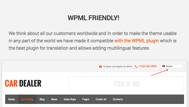 We think about all our customers worldwide and In order to make the theme usable in any part of the world we have made it compatible with the WPML plugin which is the best plugin for translation and allows adding multilingual features.