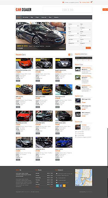 Car Dealer Automotive Responsive Wordpress Themes Classic Full Screenshoot