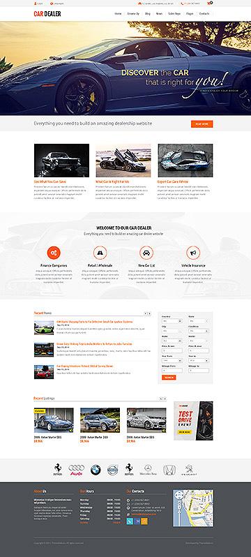 Car Dealer Automotive Responsive Wordpress Themes Fullwidth Full Screenshoot